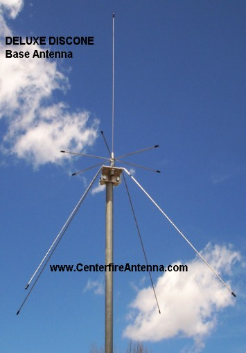 Deluxe Discone Antenna Centerfire Antenna Mfg Co