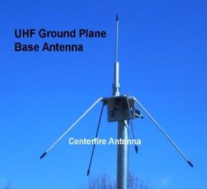 uhf ground planes centerfire antenna mfg co. Black Bedroom Furniture Sets. Home Design Ideas