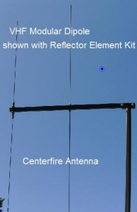 2 Element Modular Dipole for VHF 2 meter ham and MURS