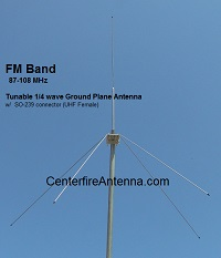Tunable FM Ground Plane antenna for Low Power