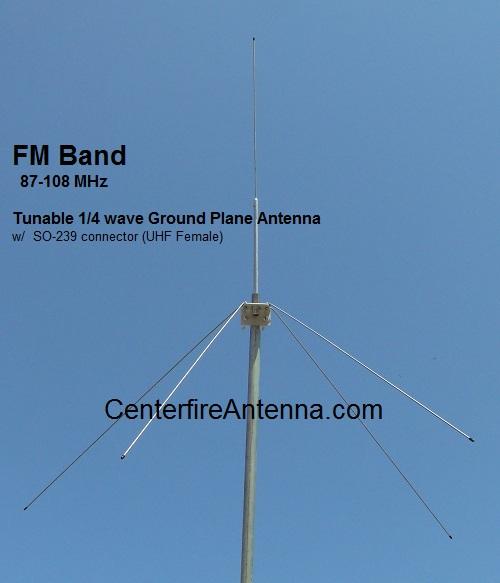 87-108 MHz Low Power FM Broadcast Antenna