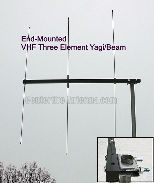 Centerfire VHF 3 Element Yagi Beam Antenna
